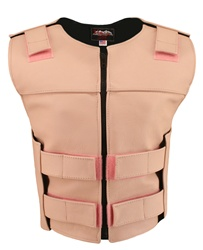 Women's Zippered Tactical Style Pink Leather Vest