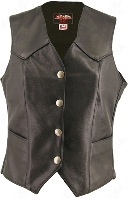 Women's Basic Leather Vest