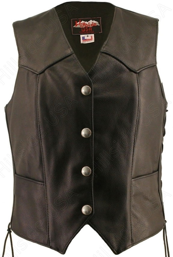 Genuine Mercury Dime Vest Made in the U.S.A. Literally, the BEST. The Basic laced is a classic vest that has stood the test of time. You will be thrilled at the detail and comfort this vest gives you. With genuine mercury Dime converted into snaps by Hill
