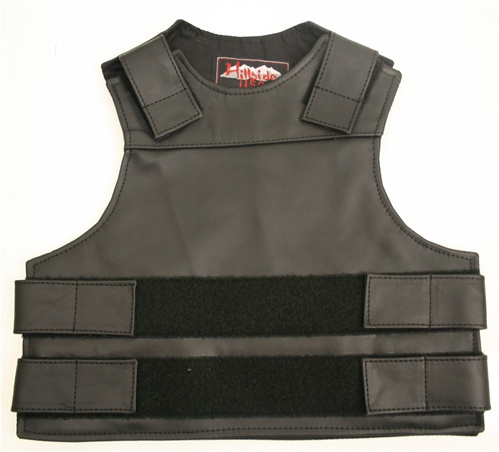 Our Kid's Tactical style vest offer similar quality and features found in our adult sizes and are available at the same affordable prices. To include Full-grain Cowhide leather (2 1/2 oz.) adjustable leather straps at shoulders for length, waist/chest for