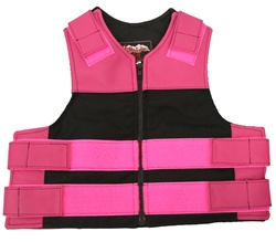 Kids Combo Leather/Cordura Tactical Vest- Hot Pink &  Black