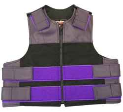 Kids Combo Leather/Cordura Tactical Vest- Purple & Black