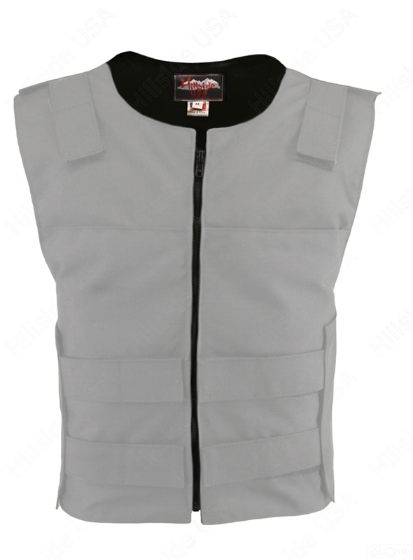 Men's Cordura Zippered Tactical Style Vest White
