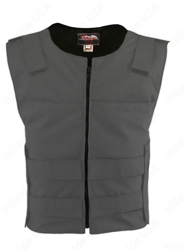Cordura Zippered Bulletproof Style Vest. Offers the same quality as the standard bulletproof style model, with a front zipper, adding the functionality and quality that only Hillside USA can offer. Hand-crafted with durable USA Denier Cordura 1000. Large