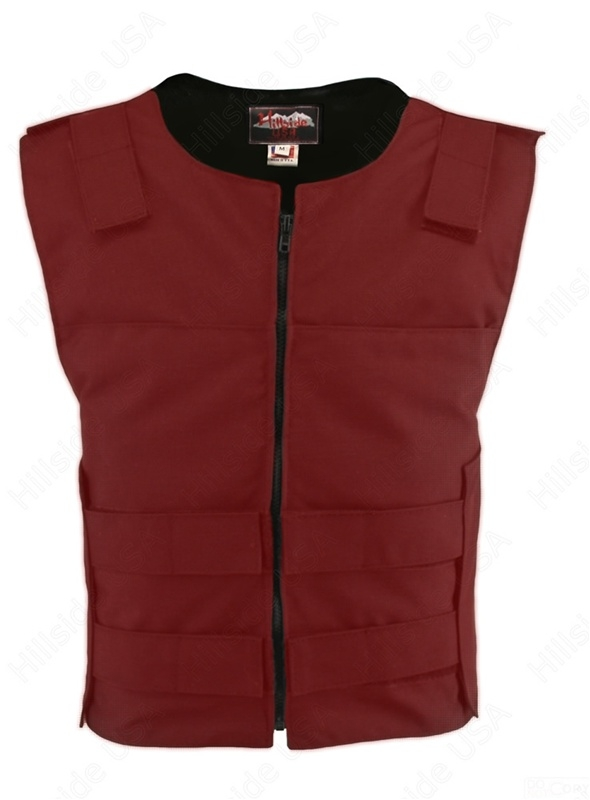 Men's Cordura Zippered Tactical Style Vest Red
