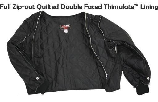 Men's Vented Leather & Cordura Jacket Black / Royal Blue I ...