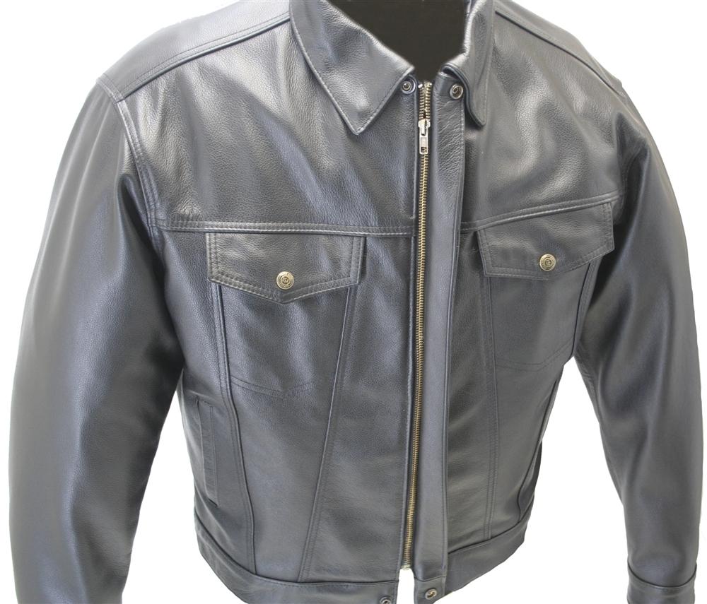 Hillside USA's Jean Leather Jacket