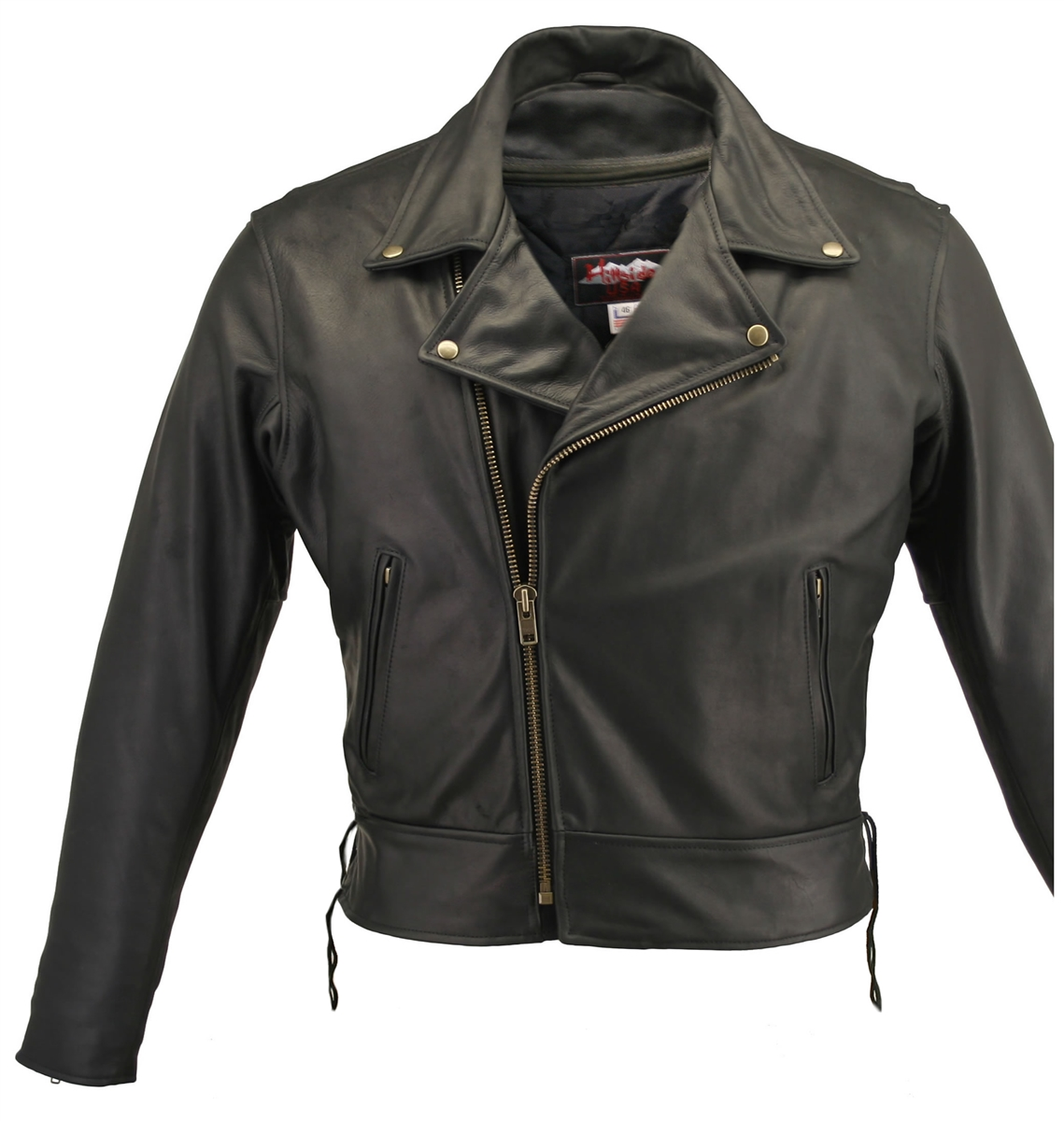 For winter biking, a classic jacket like The Beltless Biker Jacket with side laces, will allow you to adjust the jacket to fit snugly against the upper body. Of course, being able to fully zip up with YKK zipper only adds to your protection from the wind.