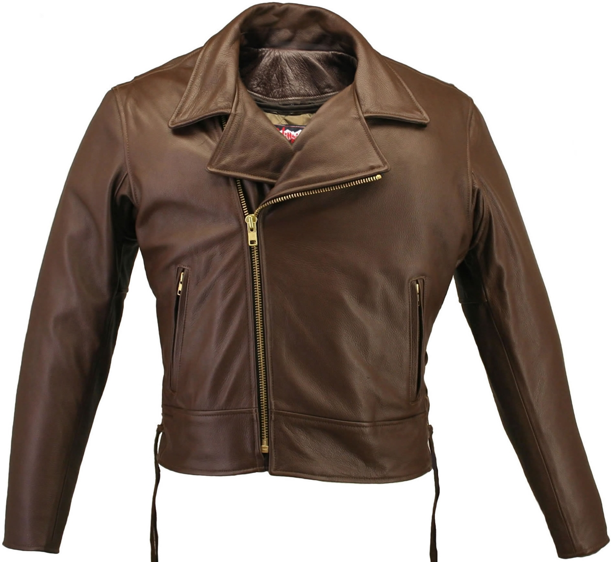 Men's Beltless Brown Biker Jacket