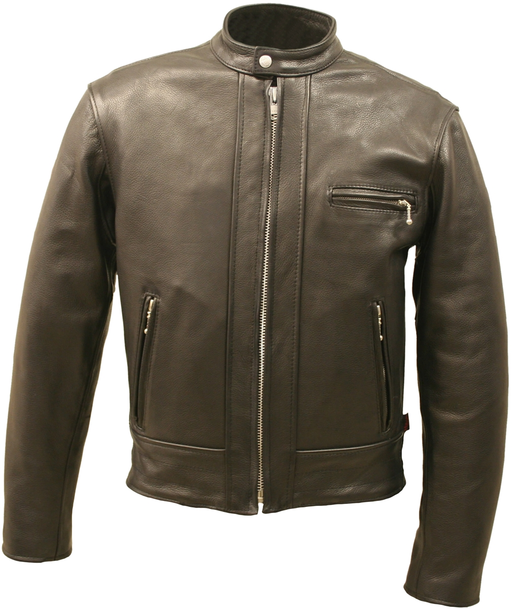 The Fitted Racer Jacket combines distinct design and timeless style with Hillside USA Leather's commitment to quality craftsmanship.This jacket is built from 4-4 1/2 oz. Soft premium cowhide naked leather. Just like most of Hillside USA's collection featu
