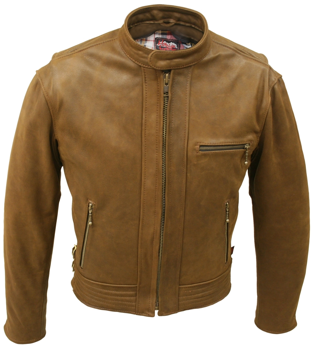 Hillside USA Padded Racer Jacket (Vintage)   Introducing a new casual jacket that combines distinct design and timeless style with Hillside USA Leather's commitment to quality craftsmanship.