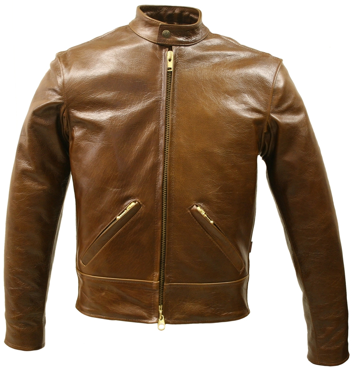A special edition of a special Jacket unites the historic and functional half belted Jacket design with  tough, heavyweight, and water-resistant pull up Leather.   American Bison leather is over 40% stronge