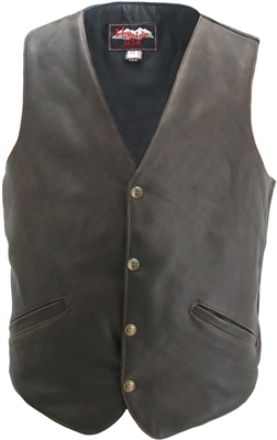 Men's Classic Vintage Leather vest