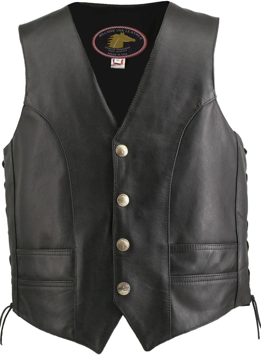 Men's Hillside USA Horsehide Biker Vest (Custom)