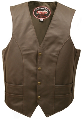 Men's Brown Leather Vest (Limited Edition)