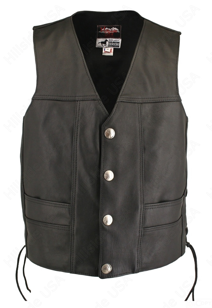 Men's Ultimate Horsehide Biker Vest
