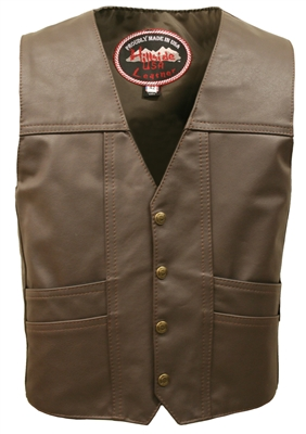 Men's Cruiser Brown Leather Vest (Limited Edition)