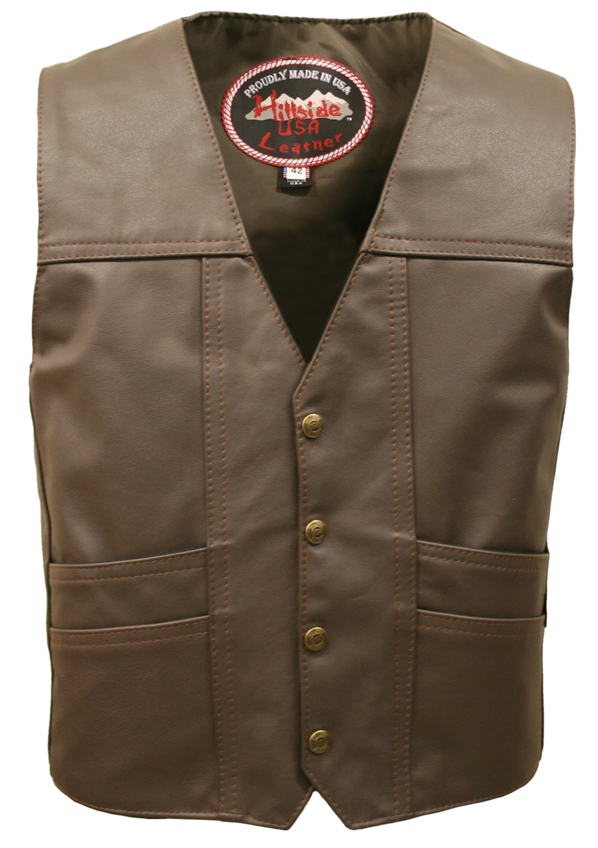Available while supplies last. Our best selling vests in Brown.  We are offering these Limited Edition vests at excellent prices available as the material remains.   Take advantage of his incredible offer!