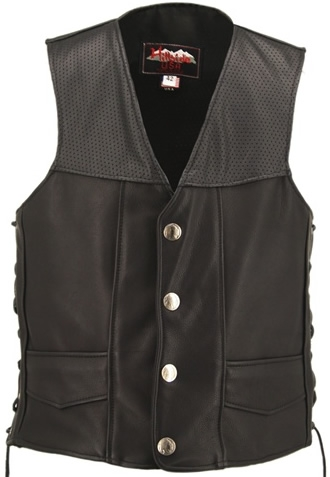 Hillside USA has become synonymous with quality, excellence and discriminating taste. In the crafting of our Hillside USA Perforated Basic Vest we use high-quality leather, featuring perforated panels on front and back for air flow, large back panel acces