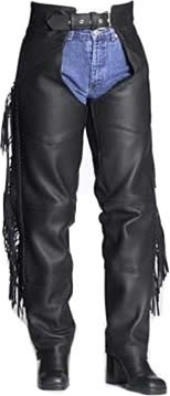 Woman's Fringe & Braid Chaps. Beautiful, tough, stylish, practical .Ideal for large thighs, Crafted with 1.6-1.8 mm (4- 41/2 oz.)  Soft, Supple, and Thick Cowhide Naked leather, YKK silver hardware. Comes with 8