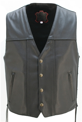 Full Back Motorcycle Leather vest