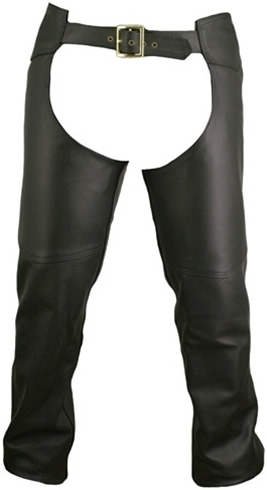 Double Stitched Leather Chaps. Functional, rugged, durable and attractive. Our chaps are hand-crafted and custom-made in the USA. Designed just for you and made to order. Double stitch, 1.6-1.8 mm (4-41/2 oz.) Soft, Supple, and Thick Cowhide Naked leather