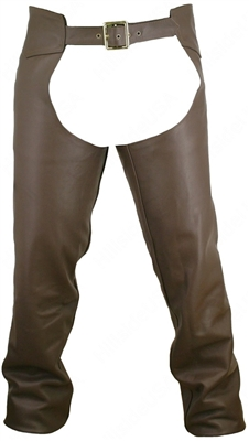 Men's Seamless Custom Leather Chaps-Brown