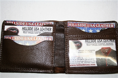 Horsehide Bi-Fold Wallet (Brown)