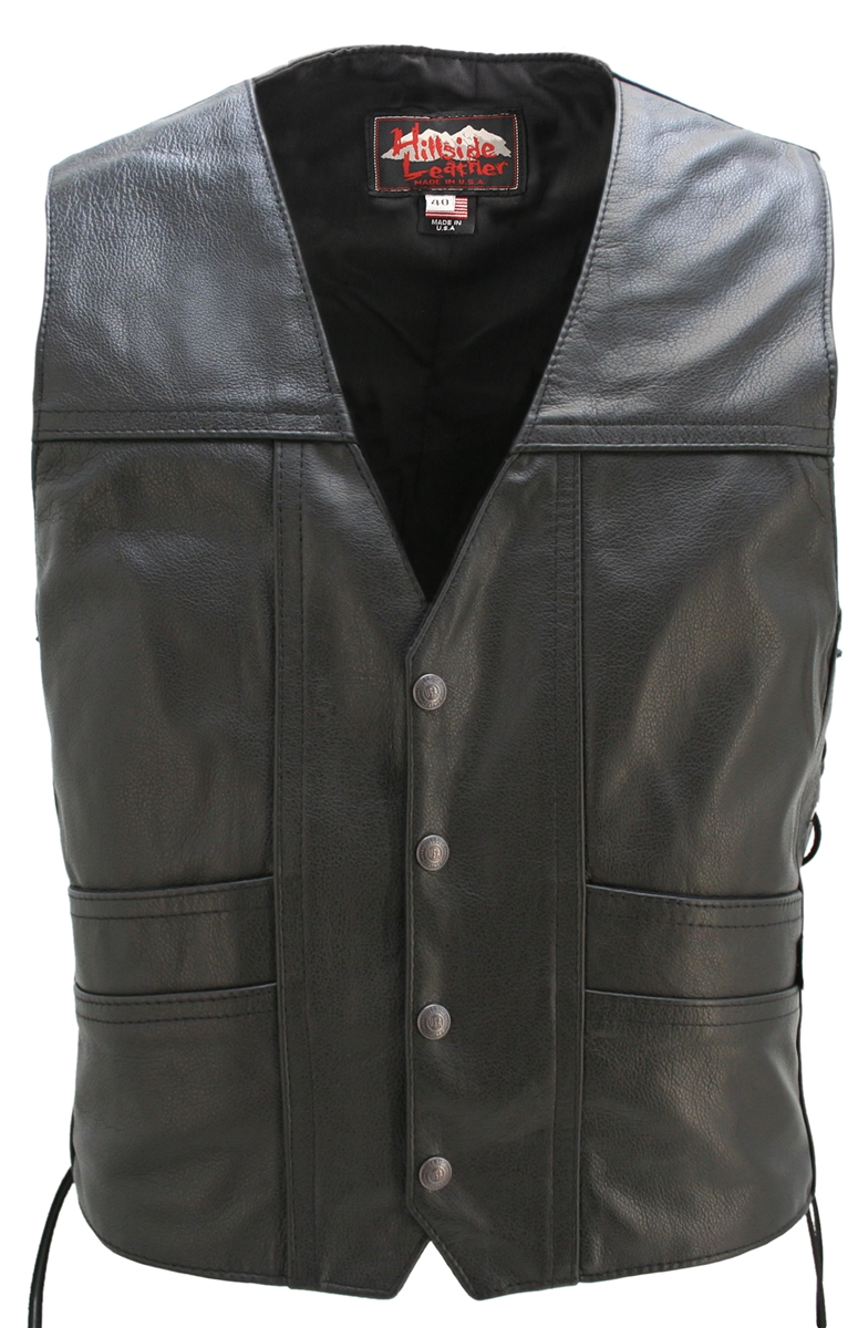 This sophisticated design provides comfort and protection at the same time. Hand-crafted from 1.2mm top grain Cowhide leather. One-piece main back panel perfect for motorcycle patches heavy-weight ballistic nylon (Cordura)to line the concealed-carry po