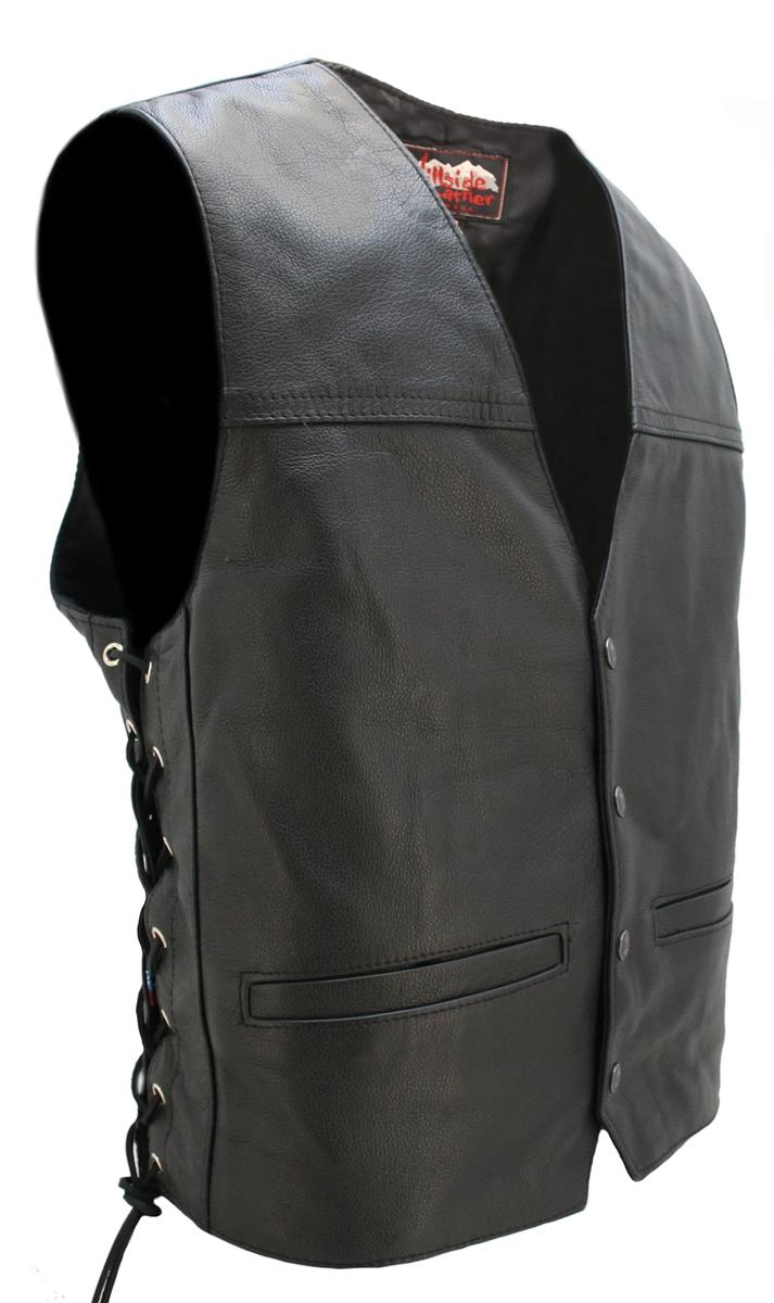 Seamless Back Panel Club Biker Vest