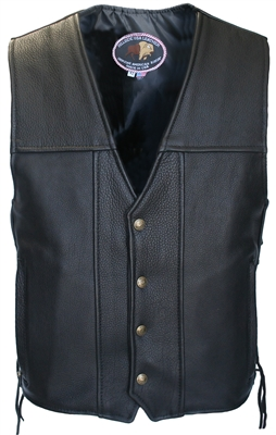 American Bison Leather Vest