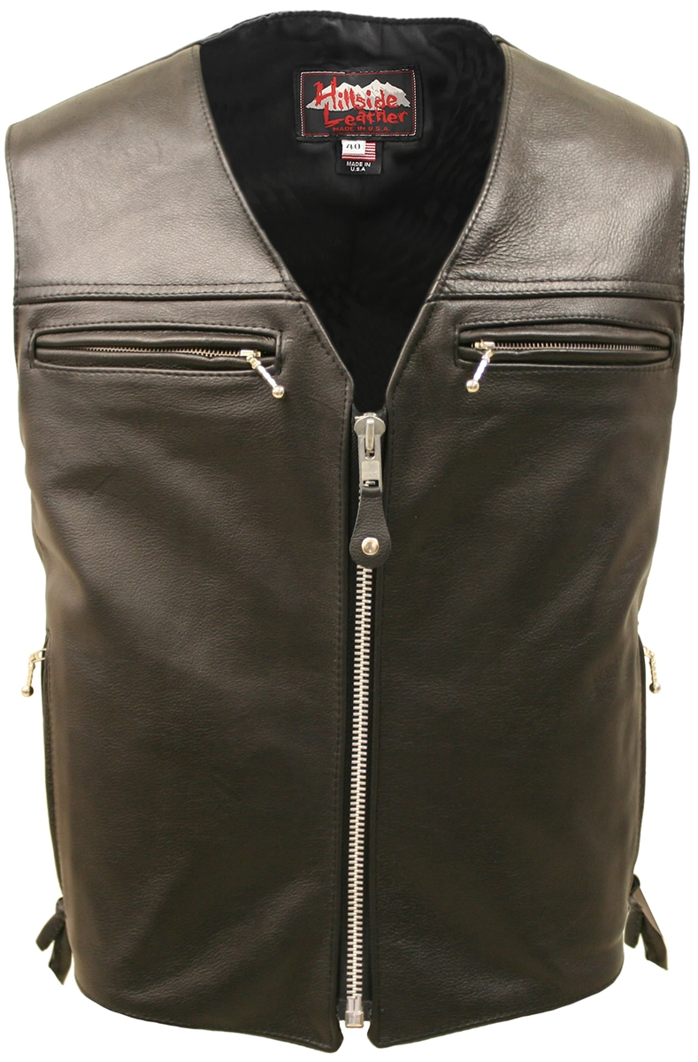The Elite Leather Vest. Our exclusive Elite leather vest is meticulously crafted of 1.4 1.6 top grain leather to withstand years of use. We custom-build each and every piece one at the time with the same care and craftsmanship that Hillside USA is known f