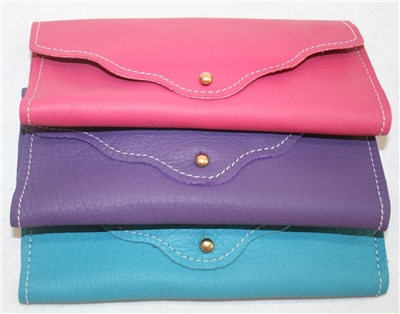 Women's Leather Card Clutch Wallet