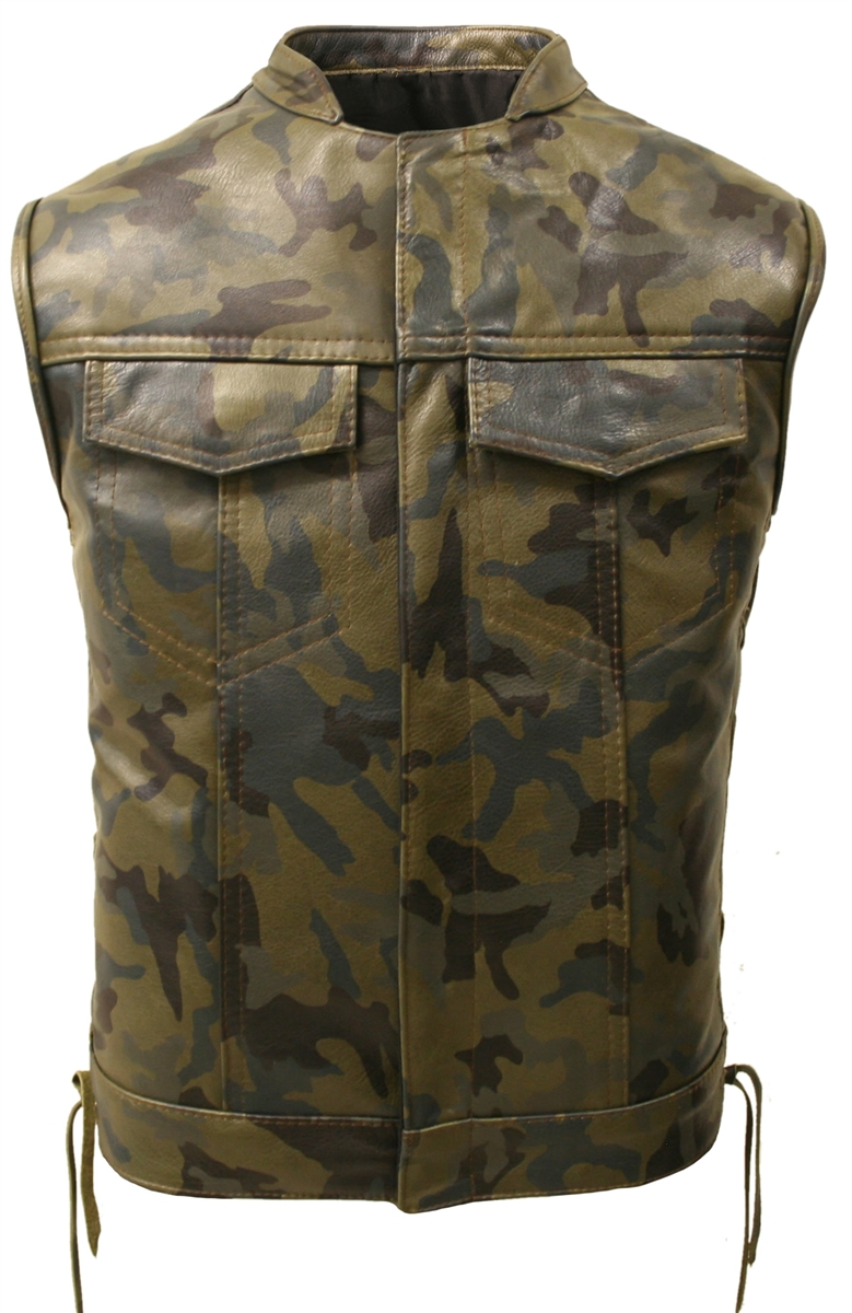 899ac5532a1f59 Hillside USA All Leather Camouflage Biker Vest. Tap to expand. Email a  friend