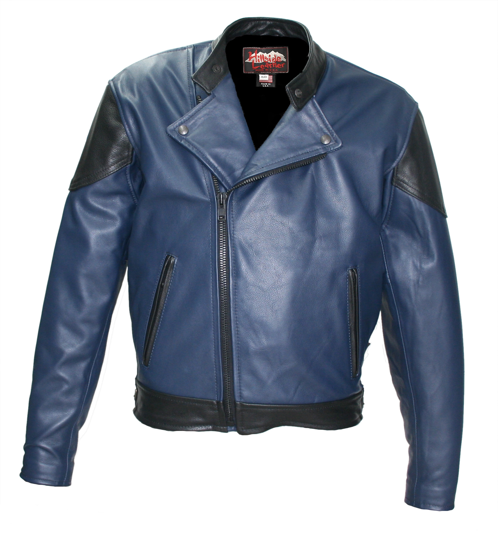 Hybrid Biker Jacket  Two Tone (Navy Blue/Black)