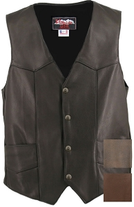 Men's Basic Motorcycle Vest with Gun Pockets
