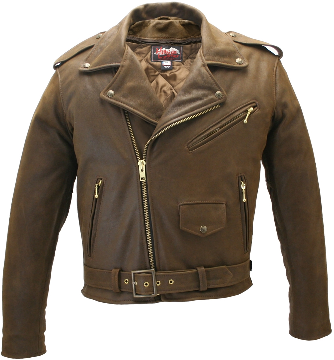 Men S Classic Vintage Leather Jacket