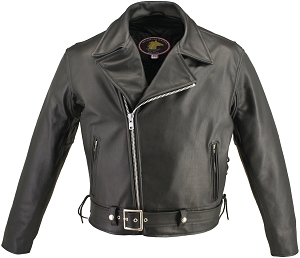 Men's Full Belted Horsehide Motorcycle Jacket