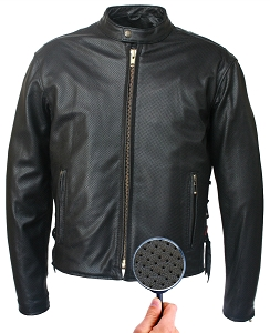 Men's Hillside USA Full Perforated Cafe Racer Jacket