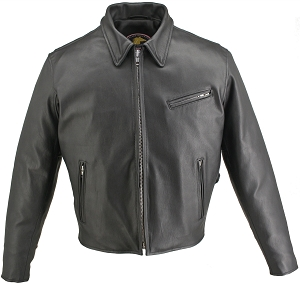 Men's Horsehide Racer Jacket Snap Down Collar