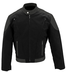 Men's Vented Leather & Cordura Jacket