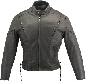 Men's Vented Leather Jacket