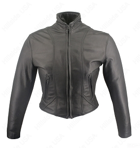 Women's Shaped Motorcycle Leather Jacket