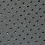 Perforated Grey Leather Swatch