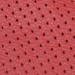 Perforated Red Leather Swatch