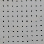 Perforated White Leather Swatch