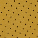 Perforated Yellow Leather Swatch