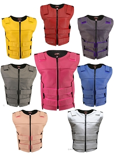 Women's Zippered Tactical Style Leather Vest