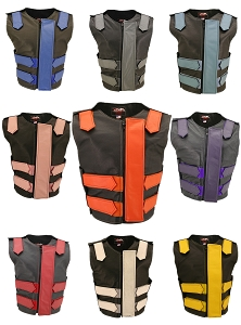 Women's Removable Flap Tactical Leather Vest