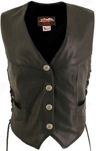 Women's Laced Side Biker Vest
